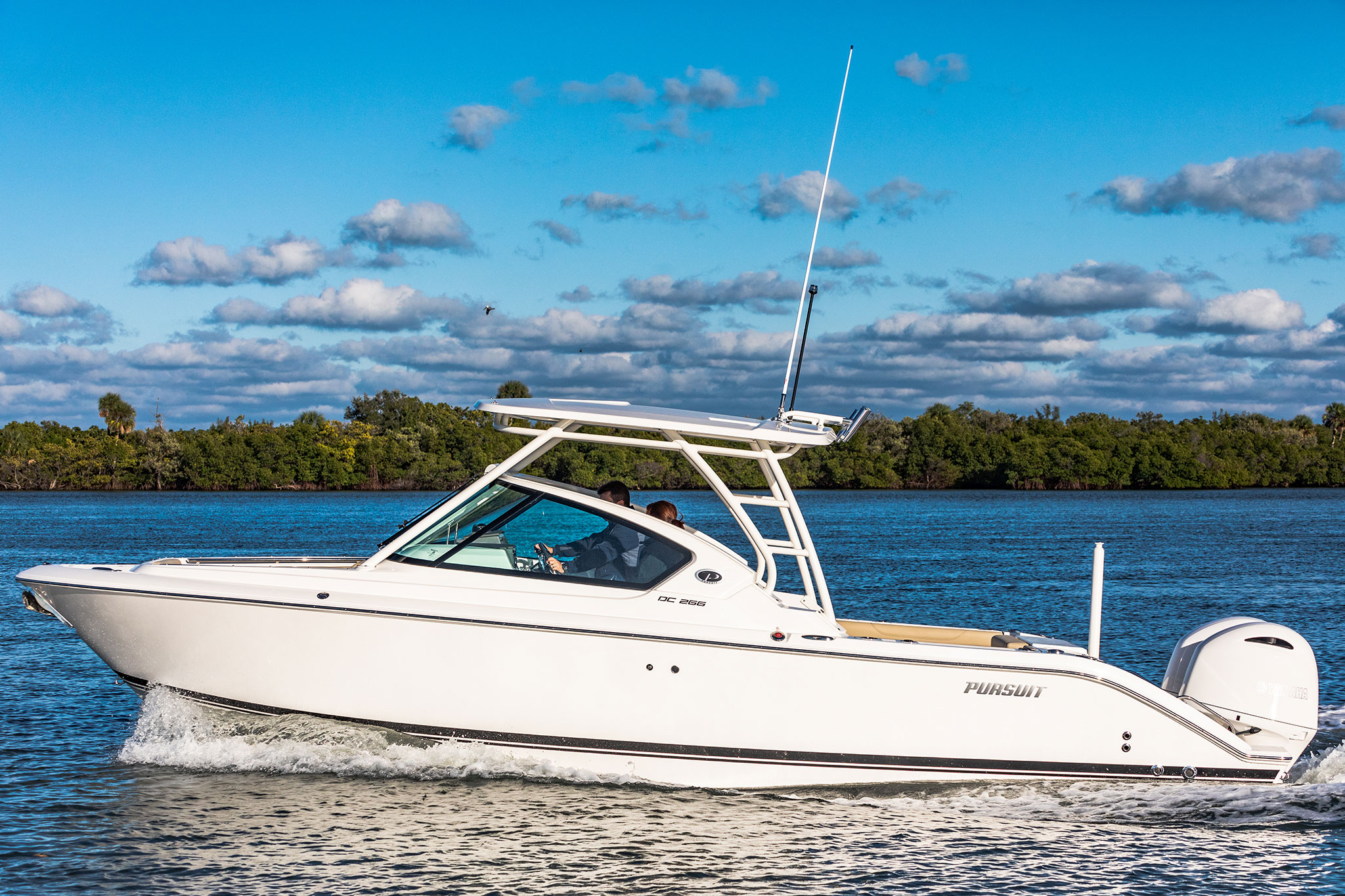 pursuit boats dc  dual console