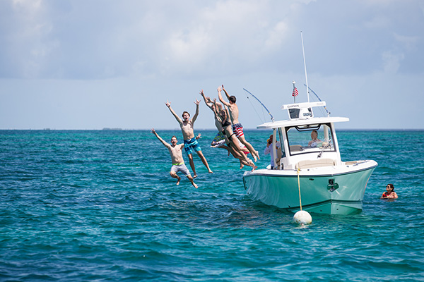 Group of kids jumping off white S328