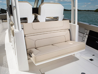 S328 folding aft facing seat open