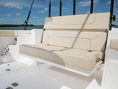S 328 folding transom seat open