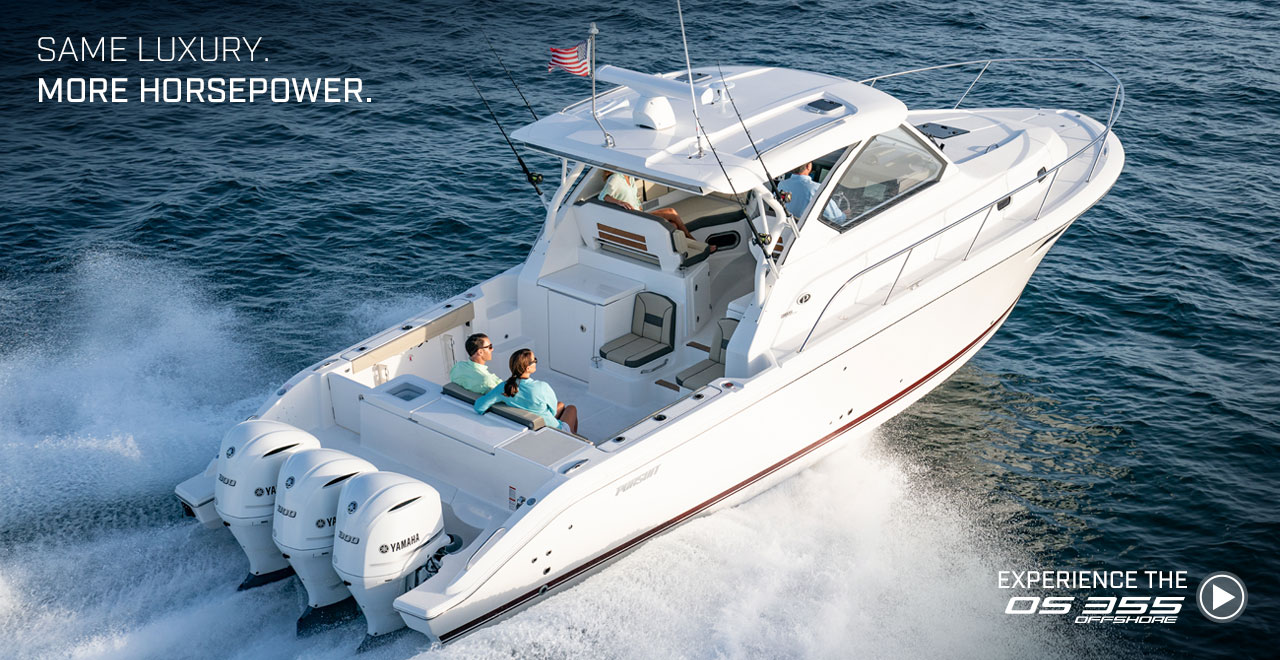 Same Luxury More Horsepower Experience the OS 355 Offshore. Watch video now.