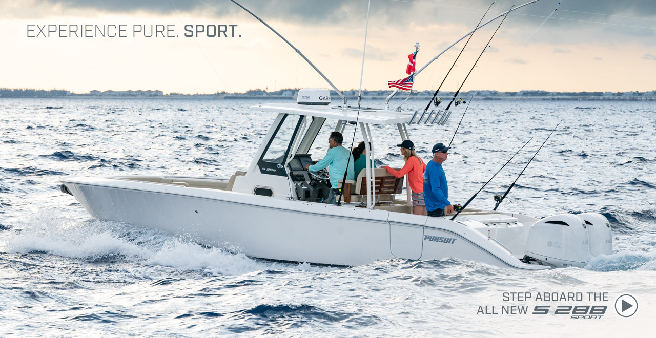 Experience Pure Sport Step aboard the all new S 288 sport. Watch video now.