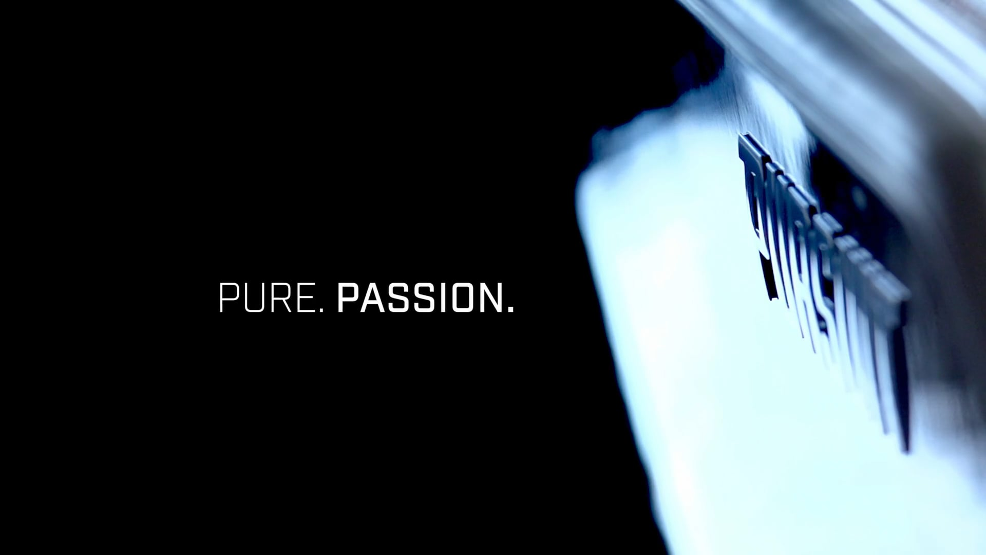 Dramatic image of Pursuit logo on the hull.