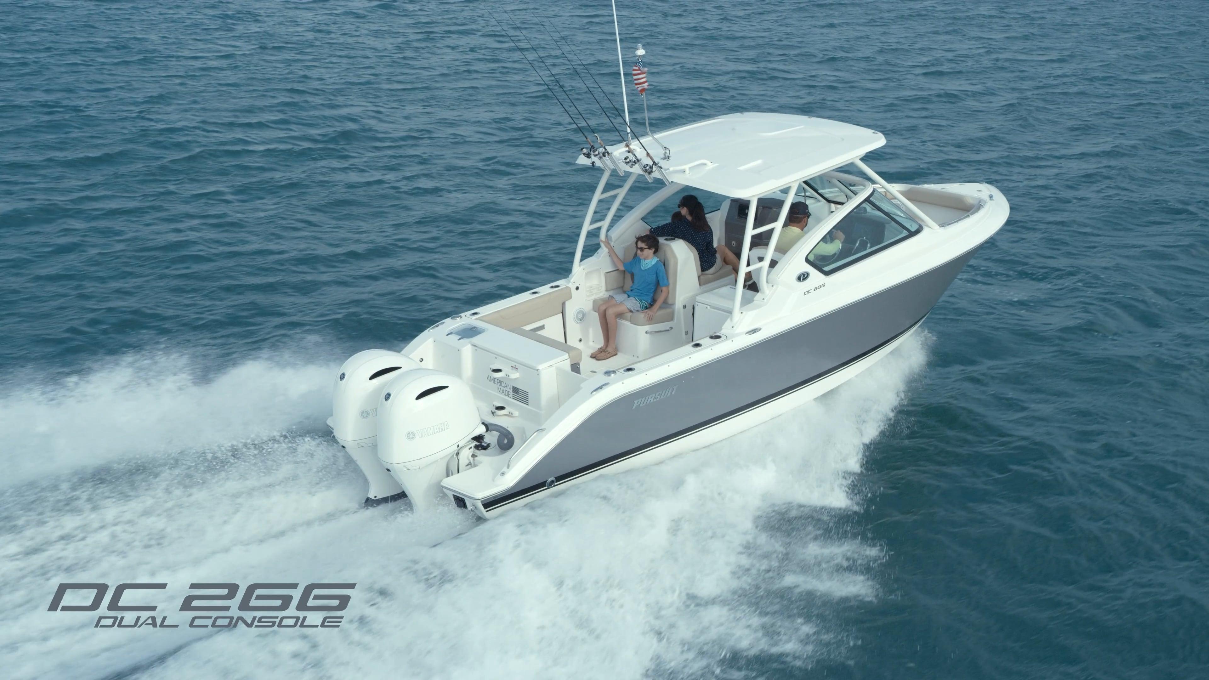 Pursuit Boats DC 266. Watch video now.